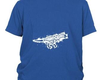 Tyrannosaurus Rex Paint Splatter Youth Concert T-Shirt, Typography, Birthday or Graduation Gift Idea, XS-L, 5 Colors