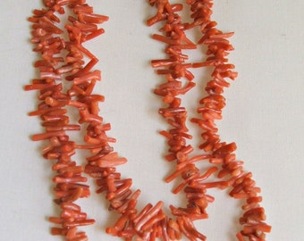 "31"" Branch Red Coral Necklace"
