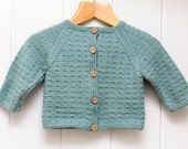 Knitting Pattern/DIY Instructions - Dotted Swiss Baby Cardigan