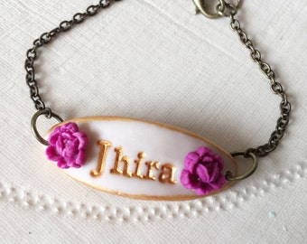 Girl Name Bracelet, Christening Bracelet, 2,3,4,5,6,7,8,9 years old Girl Gift