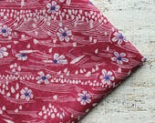 Vintage viscose fabric 2.53 yards in 1 listing bordo red pink white floral boho fabric