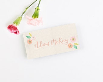 Bright Floral Folded Place Card