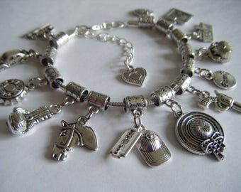 Peaky Blinders I Heart Thomas Shelby Charm Bracelet BBC TV Series Cap Razor Blade Family War Hero Solder