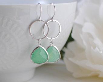 The Lauren Earrings - Green