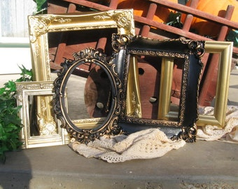 Set Of 5 Shabby Chic Frame Set - Vintage Style PICTURE FRAMES - Ornate Picture Frame