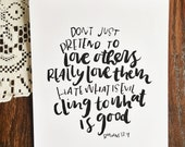 love others -  art print
