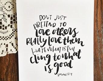 love others -  art print