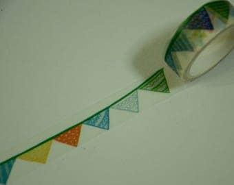 1 Roll Japanese Washi Masking Paper Tape - Fun Garland