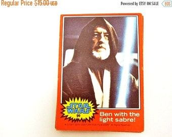 ON SALE Star Wars Trading Cards Set of 16. Episode IV:  A New Hope. Circa 1977. Nerd Gifts. Birthday. Teacher. For the Star Wars Geek. Man C