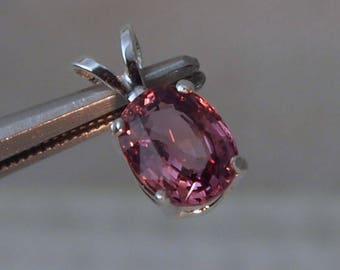 Toumaline Pendant, 1.35 Carat,Pink, Sterling Silver Pendant, Oval Cut