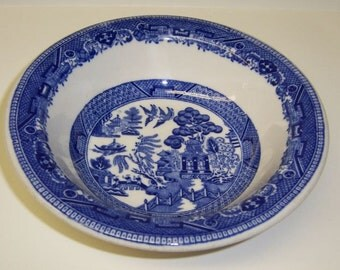 Buffalo China BLUE WILLOW 6 1/4 Inch CEREAL Bowl