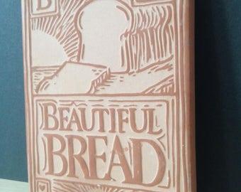 vintage bountiful bread plaque