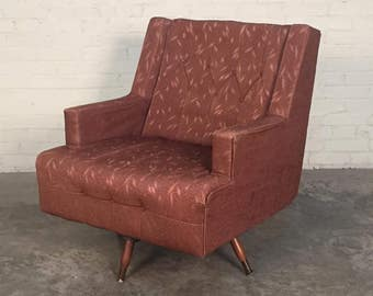 Mid-Century Modern Swivel Lounge Chair - SHIPPING NOT INCLUDED