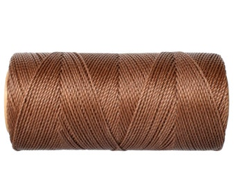 Waxed Cord, Macrame Jewelry Cord, 15 meters/16 yards Waxed Thread Linhasita cor 567, Knotting String - Light Bronze
