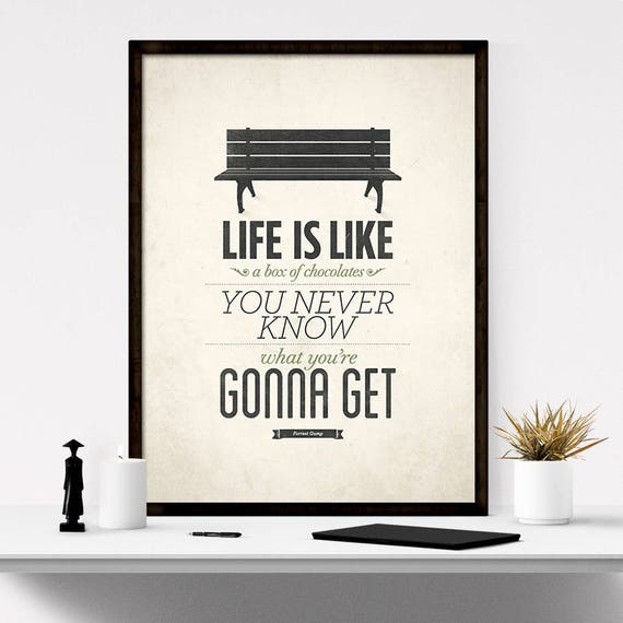 Forrest Gump Poster Life Is Like A Box of Chocolates Rustic Art Quote About Life Inspirational Quotes Life Quote Print Movie Quotes  sc 1 st  Etsy & Forrest Gump Poster Life Is Like A Box of Chocolates Rustic Aboutintivar.Com