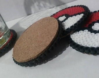 Pokeball Corkbottom Coasters - set of 4