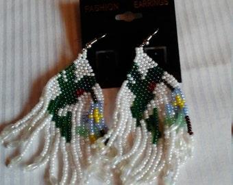 Beaded Humming Bird Earrings