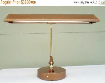ON SALE Vintage Industrial Bronze Goose Neck Desk Lamp, Lighting, Florescent, Mid Century Modern, Adjustable