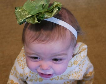Tinkerbell-Inspired Baby Bow Headband