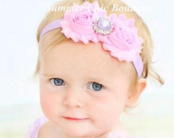 Baby Headband, Infant Headband, Easter Headband, Newborn Headband, Toddler Headband, Spring Baby Headbands, Light Pink and Lavender Headband
