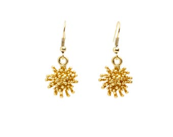 Mini Sea Urchin Earrings