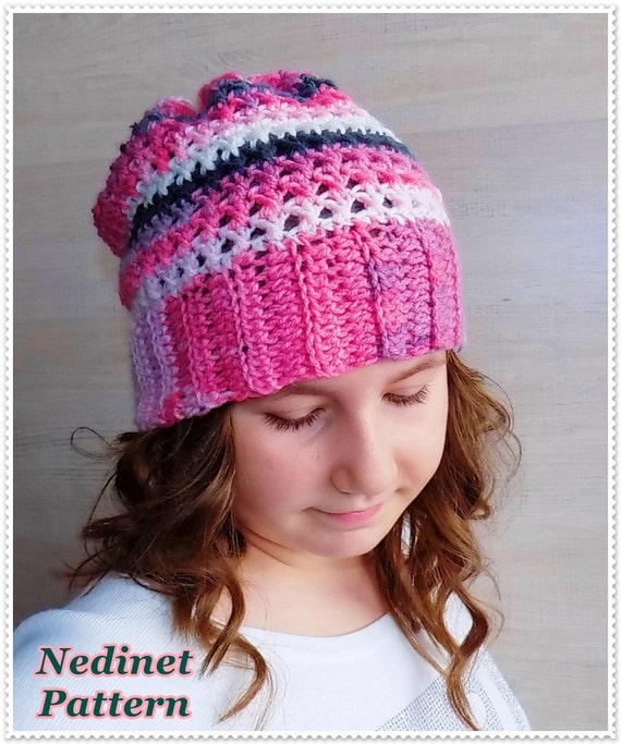 Crochet Slouchy Hat Pattern For Child : Crochet pattern crochet slouchy hat pattern crochet hat