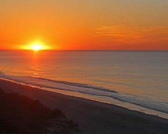 Ocean Photography, Sunrise Art, Wall Art, Home Decor, Coastal Art, Coastal Decor, Beach, Myrtle Beach, SC, 8 x 10 various sizes