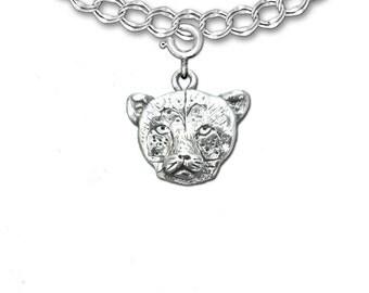 Sterling Silver Cheetah Charm