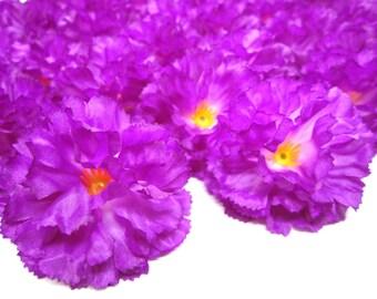 """2"""" Hawaiian Carnation Heads (Pack of 24) - Violet - Artificial Flower, Silk Flower Heads"""