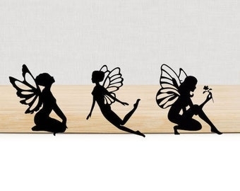 Fairies Mix die cuts, set of 10. Custom Colors and Sizes.
