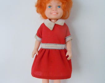 Vintage Orphan Annie  Doll, 1982 Knickerbocker Plastic Body 6in Doll, Collectible Theater/Movie Character from the Little Orphan Annie Show