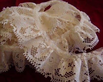 SALE! Vintage Cluny Lace/1.75 yd. piece