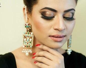 Sahara earrings, multicolored, pakistani jewelry, pakistani earrings, indian jewlery, ready to ship