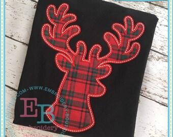 Deer Head Embroidered Tee - Hunting Tee - Custom Tee 2022a