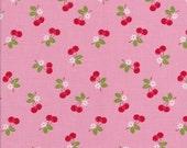 Cherry Fabric - Sew Cherry 2 - Pink Fabric - Lori Holt Fabric - Riley Blake