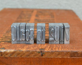 Ships Free - Class of 2017 - Vintage letterpress metal type collection - graduation, gift for graphic designer, gift for art student TS1037