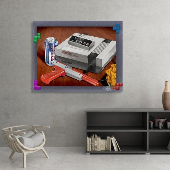 NES Zapper Gun Crystal Pepsi - Gaming Themed Illustration SIGNED Fine Art Print