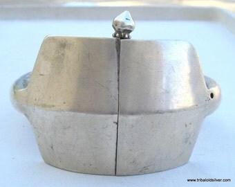 Vintage Antique Ethnic Tribal Old Silver Bracelet Bangle Rajasthan India