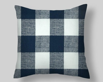 BLUE THROW PILLOW Covers,Blue Throw Pillows, Navy Blue Throw Pillow Covers 16 18x18 20 Dark Blue Pillow Home and Living