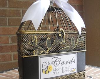 Baby Shower Card Holder, Baby Shower Supplies, Birdcage Money Holder, Bird Cage Shower Decor, Shower Cards, Baby Shower Cards, Personalized