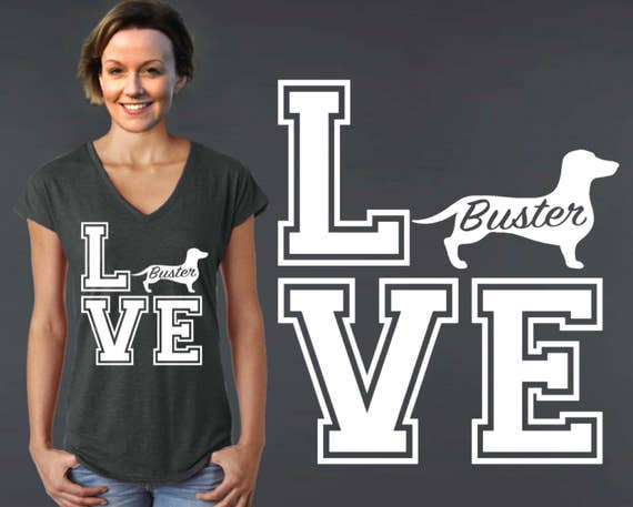 Dachshund | Dachshund Dog | Dog Shirt | Dog Lover Gift | Custom T-shirts | Personalized T-shirts | Inspirational T-shirt | Korena Loves