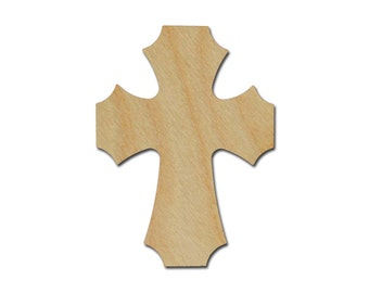"Wood Cross Unfinished Wooden Craft Crosses Cut Out Stainable Paintable part C11-150   11"" inch"