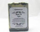 Black Tie for men cold process Soap
