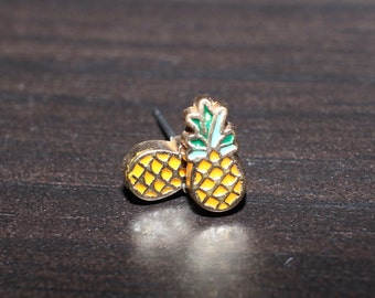 Pineapple Stud Earrings, Titanium Post Earrings, Fruit Earrings, Hypoallergenic Earrings