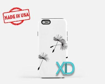 Simple Dandelion iPhone Case, Seed iPhone Case, Dandelion iPhone 8 Case, iPhone 6s Case, iPhone 7 Case, Phone Case, iPhone X Case, SE Case