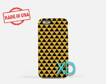 Pyramid Phone Case, Pyramid iPhone Case, Triangle iPhone 7 Case, Mustard, Triangle iPhone 8 Case, Pyramid Tough Case, Clear Case, Geometric
