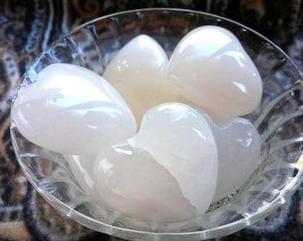 Italian Onyx Heart Gemstone Crystal Palm Stone Valentines Day