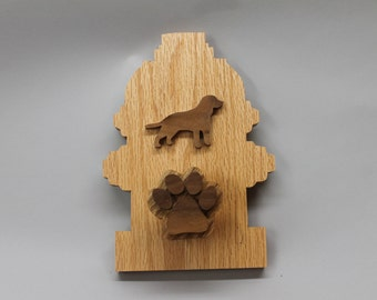 Dog leash holder, fire hyrdant shaped