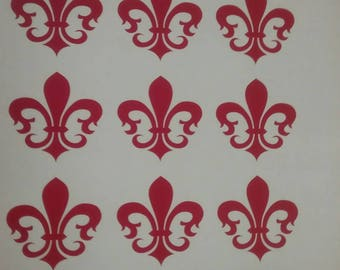 24 Fleur de Lis Decals Sticker Self Adhesive Wall Scrapbook Envelope Party Decor Announcement Weddings Birthday Event Card Making Invitation