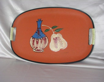 1950s Wood Composite Tray......A Jug of Wine and Thou